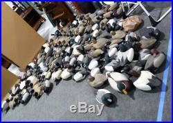 100+ Hand Carved Wood Wooden Duck Hunting Decoy Decoys Robert BODNAR Group Lot