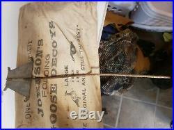 12 Vintage Johnson's Folding Goose Decoys with Bag