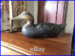 1900 ca. Mason Challanger Grade Black Duck Decoy