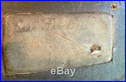 1902 RARE HOLLOW PREMIER BLACK MASON DECOY Dated/Signed Inset weight NY STATE
