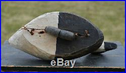 1970s OLD SQUAW DUCK Primitive WOOD Carved DECOY PAIR Magdalen Islands Qc Canada