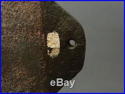 19th C. Cast Iron Sink Box Decoy Maryland- Rig Hole In Tail- Bill Detail 35 Lb