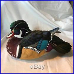2018 Ducks Unlimited Medallion Jett Brunet Wood Duck Decoy Duck of the Year