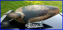 ANTIQUE MERGANSER DUCK DECOY LONG ISLAND NY CARVER UNKNOWN c1870