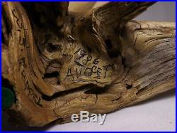AVOCET wood decoy RARE 1986 Walter J. Ruppel SIGNED all original on drift wood
