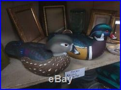 AWESOME ANTIQUE VINTAGE DUCK DECOY wood ducks John day cecilton Maryland 2005