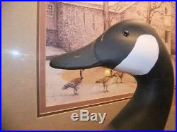 A J Birdsall signed Canada Goose solid decoy NJ carver, Decoy minty Del River