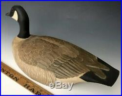 A+ Vintage Carved & Painted Glass Eye Duck Decoy Brant Canada Goose, MA, c. 1980