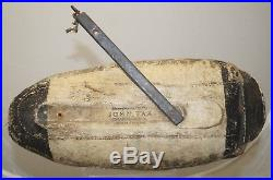 Antique 1920s JOHN TAX OSAKIS MN Carver Fish Duck Hunting Scaup Bluebill Decoy