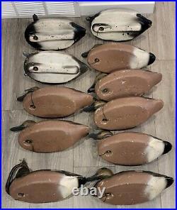 Antique 1950's / 1960's Herters Duck Decoy Lot Of 21 Estate Find