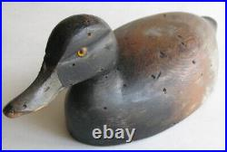 Antique Chauncey Wheeler Bluebill Drake Duck Decoy Alexandria Bay NY c1920 16