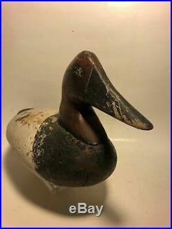 Antique Drake Canvasback Duck Decoy, Chesapeake Bay, Maryland, Waterfowl, goose