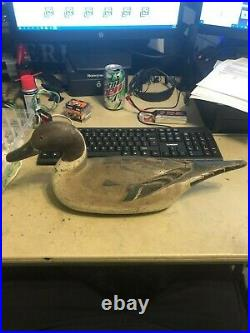 Antique Handmade Decoy by Fresh-Air Dick Janson Pintail Drake made in the 1920's