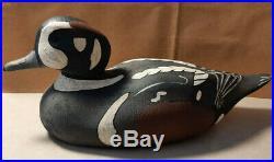 Antique Herters Harlequin Drake Duck Decoy 1930s Original Paint Wooden