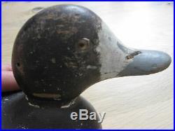 Antique Mason Duck Decoy, Blue Bill Hen, Standard Grade, Original Paint, Hunting