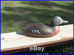 Antique Mason Duck Decoy Blue Wing Teal Drake