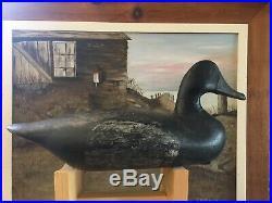 Antique Massachusetts Duck Decoy Plus Antique Maine Decoy 1900
