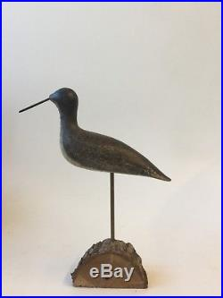 Antique Shorebird Decoy yellow legs early 20th c