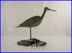 Antique Style Wood Willet Shorebird Decoy Russ Allen Virginia Estate Goose Duck
