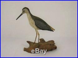 Antique Style Wood Yellowlegs Shorebird Decoy Massachusetts Estate Goose Duck