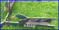 Antique Tri-Fold Folding Mallard Duck Decoy J. W. Reynolds Original In Good Shape