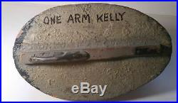 Antique Vintage Bluebill Duck Decoy, Michigan Area, Marked One Arm Kelly