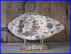 Antique-Vintage-Factory-Stevens-Old Bluebill-Wooden Duck Decoy