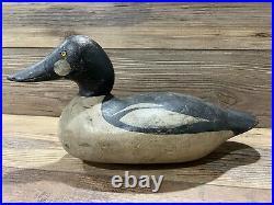 Antique Vintage Wood Duck Decoy MASON Goldeneye Drake