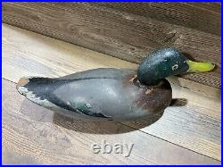 Antique Vintage Wood Duck Decoy MASON Mallard Drake