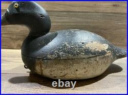 Antique Vintage Wood Duck Decoy MASON Scaup Blue Bill Drake