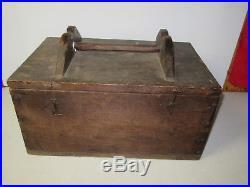 Antique Walnut duck hunting walnut gunning box live decoy box