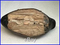Antique Wood Duck Decoy Ring Bill Drake Exceptional Folk art Unique WOW