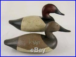 Antique Wood Duck Decoys Canvasback Pair Ed Parsons Maryland Goose Shorebird