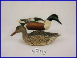 Antique Wood Duck Decoys Grayson Chesser Shoveler Pair Virginia Goose Shorebird