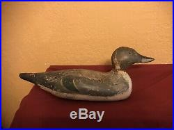 Antique Wooden Decoy Duck Hand Carved Made by Tould Lake 1920-1922 #1