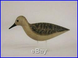 Antique Wooden Plover Shorebird Decoy Chris Sprague New Jersey Estate Duck