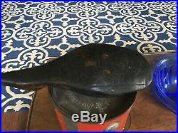 Antique Wooden Shorebird Decoy Hand Carved Hunting Folk Art Collectible Tack Eye