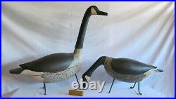 Antique folk art P E I large goose decoy hunting fishing tramp art Adirondack