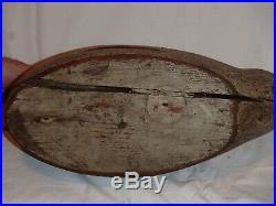 Antique handmade wooden mallard hen