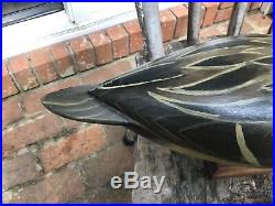 Antique vintage old wooden working Charles Perdew Illinois pintail duck decoy