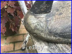 Antique vintage old wooden working Early Joe Lincoln goose decoy