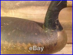 Antique vintage old wooden working Ira Hudson Goose decoy