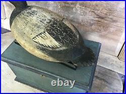 Antique vintage old wooden working Mark Daisy Bluebill duck decoy
