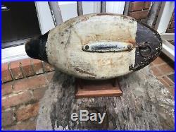 Antique vintage old wooden working Miles Hancock Va. Widgeon duck decoy