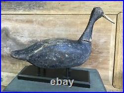 Antique vintage old wooden working Va. /NC high head Coot duck decoy
