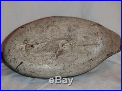 Antique wooden drake bluebill decoy, handmade