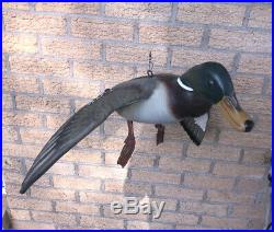 BEAUTIFUL MIKE BORRETT'04 FLYING MALLARD HEN DUCK (Set Of 2) DUCKS UNLIMITED