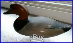 B I N! SIGNED 1952 Madison Mitchell Redhead Drake Decoy Maryland Duck Goose