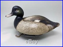 Beautiful Jim Schmiedlin Wooden Greater Scaup Duck Decoy