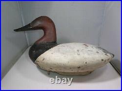 Beautiful Vintage Handmade Wooden Duck Decoy